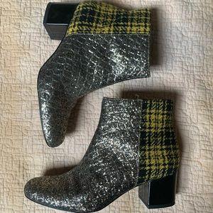 glitter plaid zip boots sam edelman